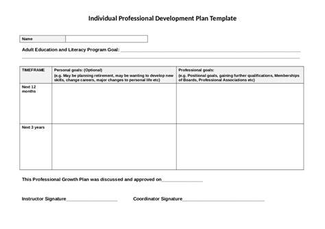 personal development plan template 2018 personal development plan fillable printable pdf forms handypdf