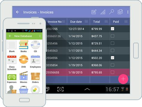 android database android database app in material design use innovative