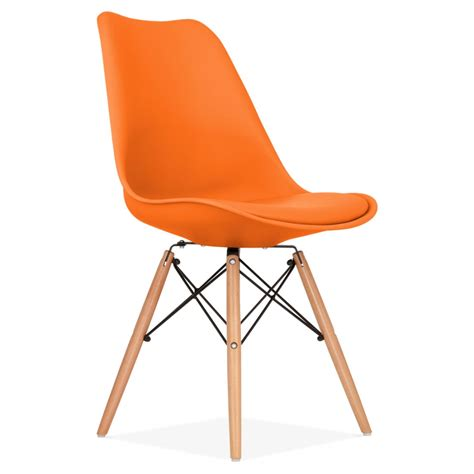 chaises de cuisines orange dining chair with dsw style wood legs modern