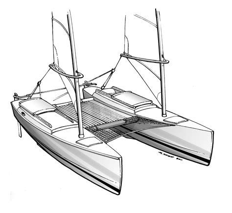 Catamaran Technical Drawing by Proa File Evergreen A Fast Expedition Catamaran