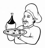Chef Italian Coloring Cartoon Illustration Vector Dreamstime sketch template
