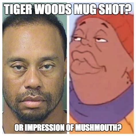 Tiger Woods Meme - tiger woods mug shot imgflip