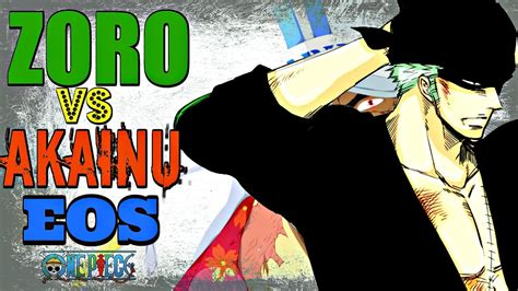 zoro stronger  akainu eos  piece