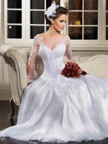 wedding dress on sale beautiful wedding dresses on sale see through sleeves lace beading bridal gowns organza