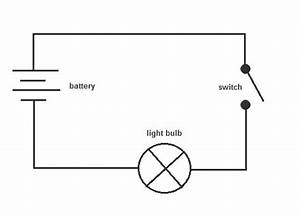 simple closed circuit diagram readingratnet With of electrical circuits with straight lines to show the wires the