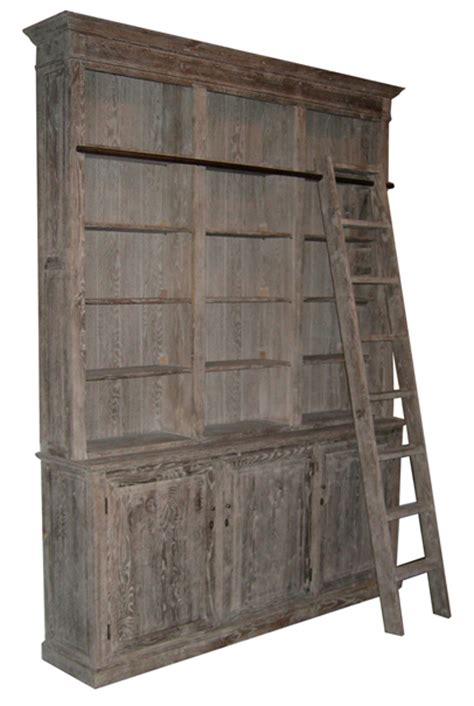 Rustic Ladder Bookcase by Bookcase With Library Ladders Ii Nomadic Decorator