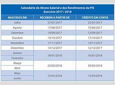 Pagamento do Abono Salarial calendário 20172018 inicia