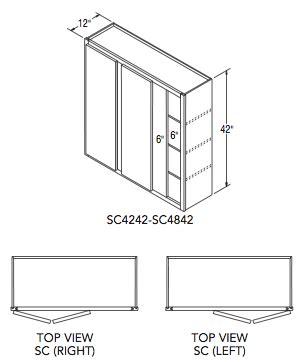 modifying kitchen cabinets wall 42 quot h aristokraft 4242