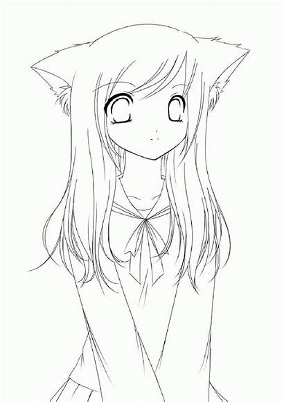 Coloring Anime Pages Vampire Face Drawings Gacha