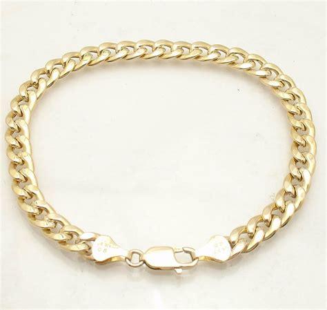 mm semi solid curb cuban chain ankle bracelet anklet