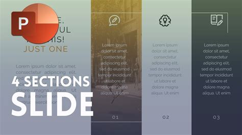 PowerPoint Slide Divided Into Four Sections - Tutorial ...