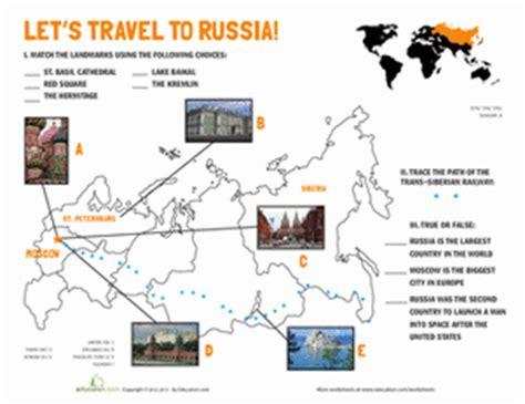 russian landmarks worksheet education