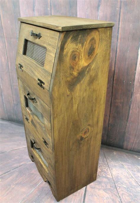 wood bread box potato onion bin vegetable storage cupboard