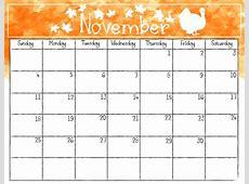 Get Free November 2018 Printable Calendar Templates 2019