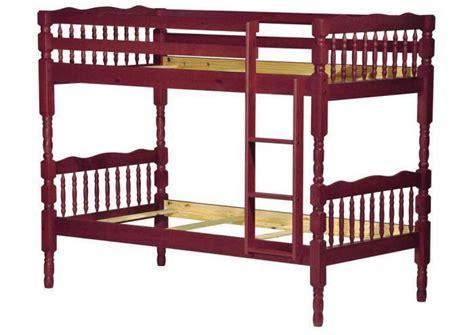 palace imports arlington mahogany wood twin  twin bunk