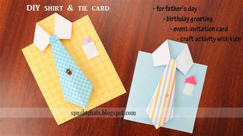 shirt tie greeting card  birthday fathers day youtube