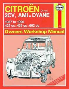 Citroen 2cv Ami Dyane 1967 1990 Haynes Service Repair Manual Uk