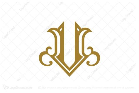 Luxury Letter V Logo