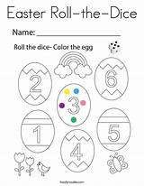 Dice Coloring Roll Easter Built California Usa sketch template
