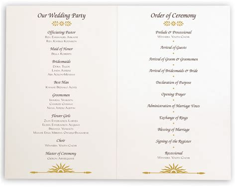 church wedding program map of africa wedding ceremony programs and church programs documents and designs