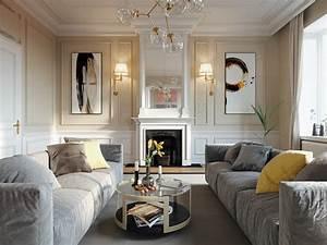 Classic, Living, Room, On, Behance