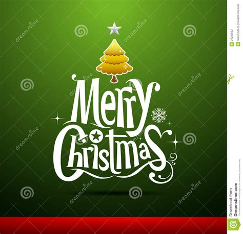 Merry Christmas Greeting Card Stock Vector Illustration