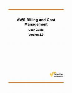 Aws Billing And Cost Management User Guide