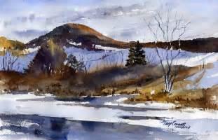 Watercolor Landscape Painting Original