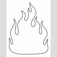 Printable Fire Template