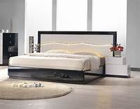modern platform bed Lacquered Refined Quality Platform and Headboard Bed Chicago Illinois J&M-TURINO