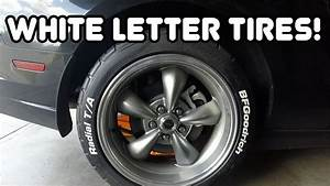 white letter tires on 2013 mustang youtube With mustang white letter tires