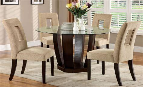 west palm  espresso glass top  pedestal dining room