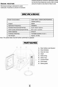 Galanz 9130001 Microwave Oven User Manual Model Wd900ep23