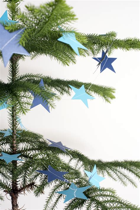 photo  star decorated natural pine christmas tree
