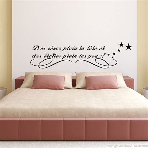 stickers muraux citations chambre 1000 images about galerie sticker quot pour bien dormir
