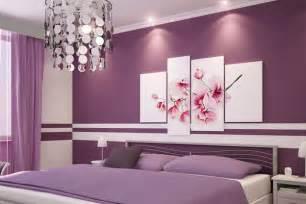 schlafzimmmer wandstreichideen in lila freshouse