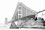 Bridge Gate Golden Coloring Pages Printable Bridges Usa Drawing Sheknows Sheet Print History Landmarks Places Activity American Gates Super Landmark sketch template