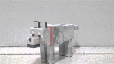 minecraft papercraft wolf friends youtube