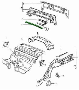 Engine Compartment Seal Front Porsche 993 Rail Type