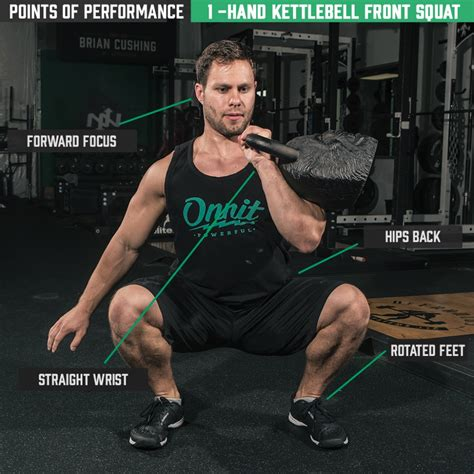 kettlebell squat front hand points squats performance onnit crossfit fitness arm exercises academy muscle
