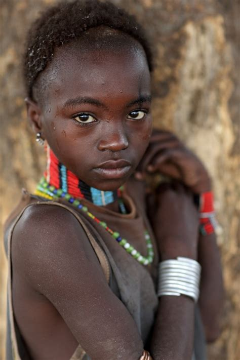 Girl Tribe Ethiopian Tribes Beautiful Hamer Girl Dietmar Temps