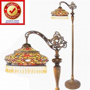 Tiffany style stained glass parisian design side arm for Tiffany style floor lamp with side light
