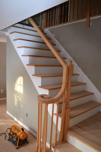 refinishing hardwood stairs monk 39 railing refinishing traditional staircase york