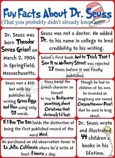 fun facts  dr seuss   didnt