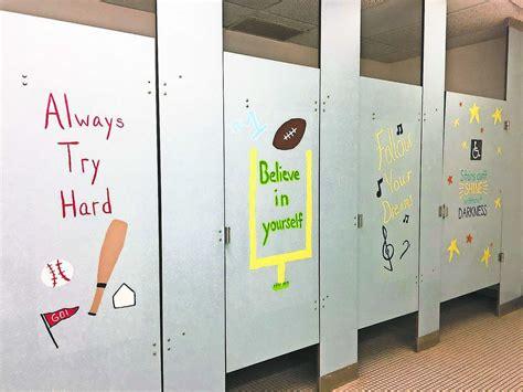District Parents Paint Positive Messages In Elementary Bathrooms