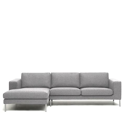 canapé métal canapé d 39 angle gauche tissu et pieds métal biki by modalto