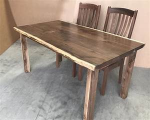 Amish Made Custom Live Edge Walnut Dining Tables Wholesale