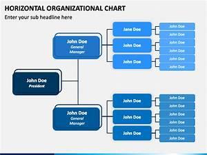 Horizontal Organizational Chart Powerpoint Template Ppt