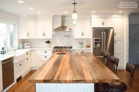 wood island tops kitchens reclaimed wood countertops wood countertop butcherblock