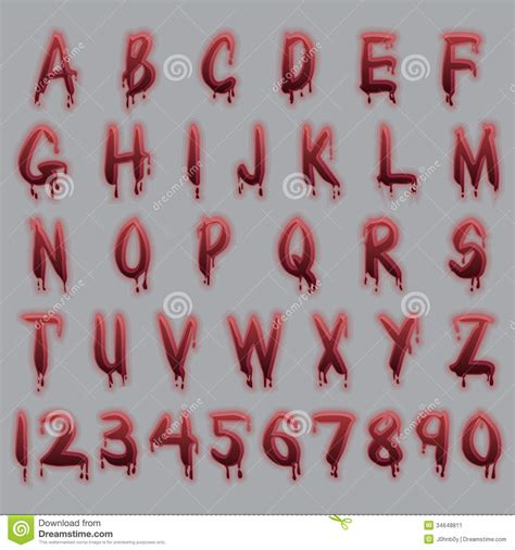 blood text stock image image
